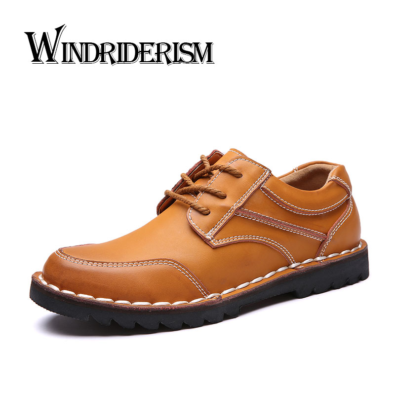 WINDRIDERISM Brand Handmade Breathable Mens Shoes Top Quality Dress Shoes Men Flats Fashion Genuine Leather Casual Shoes Men<br>