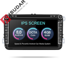 Isudar Автомагнитола 2 Din на Android 8.0.0 для Автомобилей VW/Volkswagen/POLO/PASSAT/Golf 8 Ядер FM/AM Радио(China)