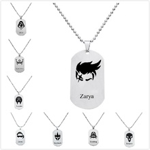 Game Overwatch Stainless Steel Dog Tag Necklace All Heroes 19 Styles Pendant Necklaces Men Women Jewelry