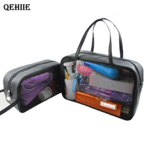 PVC Transparent Cosmetic Bag Bathroom Cosmetic Storage Bag Washing Bag Organizer Transparent Travel Bag Washing Toilet Bag