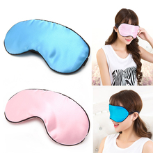 Eye Mask 1pc Pure Silk Sleep Padded Shade Cover Travel Relax Aid Blindfold New