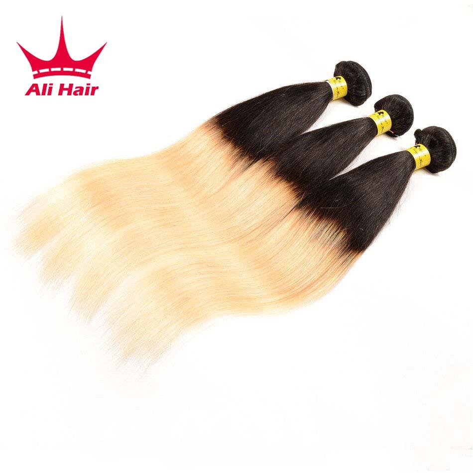 7a Grade Ombre Brazilian Hair Straight 3 Bundles 1b 27 Ombre Brazilian Virgin Hair 2 Tone Ombre Straight Human Hair Weave<br><br>Aliexpress
