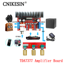 CNIKESIN TDA7377 Amplifier Board Single Power Computer Super bass, 3 Channel Sound and  2.1 power amplifier board diy Sutie