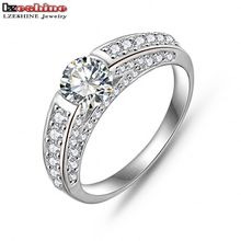 LZESHINE Hot Selling Silver/Rose Gold Color AAA Cubic Zircon Men Accessories Wedding Jewelry Rings CRI0026