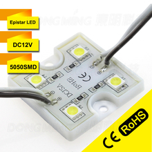 LED Module 5050 Waterproof 4Leds built-in High Bright DC 12V LED Module Red/Green/Blue/Yellow/White/Warm White Pixel Modules