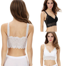 2015 Newset Fashion Summer Women Lace Bra Strap Wrapped Chest Tank Crop Tops Blouse New Arrival Promotion Yo Shop(China)