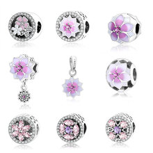 Buy 2017 Spring Flower Collection Charm Beads 925 Sterling Silver Jewelry Fits Original Pandora Charms Bracelet Authentic Berloque for $4.99 in AliExpress store