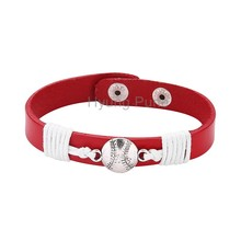 6pcs/lot! Wholesale Jewelry Adjustable Sport Team Cincinnati Baseball Bracelet Fahion Custom Wristband Cuff For Women Men