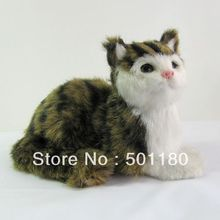 free shipping unique gift art model cat sculpture ornament cat love cat for home decoration(China)