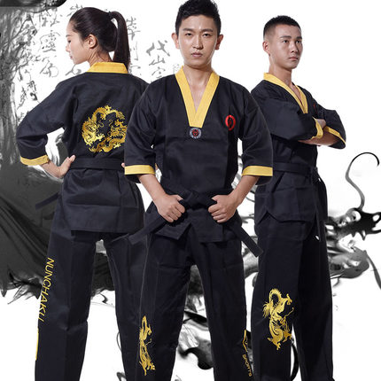 Classic Jeet Kune Do Uniforms Black JKD Suits Kung Fu nunchakus clothing Martial Arts Outfits training clothes for adult child<br>