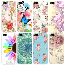 Romantic Flower Colorfull Painted Hard Plastic Shell Cover Case For Apple iPhone 4 4S 5 5S SE 5C 6 6S 7 Plus Coque