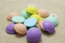 50pcs/lot mixed colour Macaroon DIY Parts Handmade Polymer Clay Sweets Deco resin Decoration