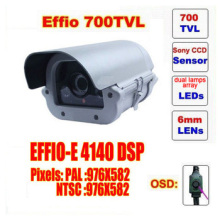 Free shipping video camera ccd sony effio dual lamps array led infrared camera osd menu waterproof ir 50m c60h(China)