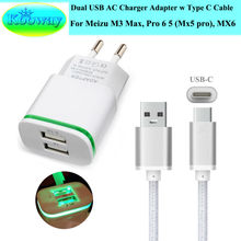 Dual USB EU Plug Wall Charger Adapter & Type C Charging Cable for Motorola Moto Z2 Play, M , Z Force Droid EditionTravel Charger