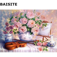 BAISITE Frameless Pictures DIY Oil Painting By Numbers On Canvas Wall Painting For Living Room Wall Art Home Decor H542