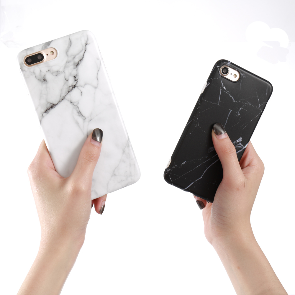 Luxury Marble Pattern i 7 Phone Cover Case For iPhone 7 Plus Soft TPU Back Cover For iPhone7 Plus Black Phone Accessories Coque (2)
