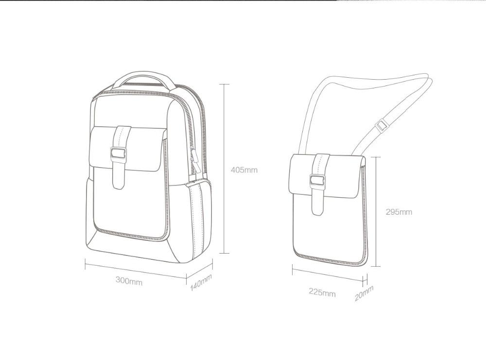 Xiaomi Fashion Commuting Waterproof backpack Removable Front Bag Big Capacity men backpacks travel backpack Laptop Bag male H0 (42)