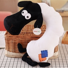Super Soft Lovely Cartoon animal U Shaped Neck Pillow Plush Toy For Home Office Nap Rest Decoration Birthday Gift For Children(China)
