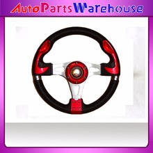 "13"" MOMO PU Steering Wheel / 320MM MOMO Steering Wheel PU / MOMO Sport Steering Wheel Racing Car Steering Wheel"