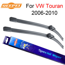 QEEPEI Front Wipers Blade For VW Touran 2006 2007 2008 2009 2010 Silicone Rubber Windshield Windscreen Wiper Car Accessories(China)