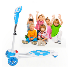 Four Wheel Scooter Baby Ride On Cars Children Walk Car Skateboard Gifts for Boys&Girls 80cm Adjustable Kid's bicycle