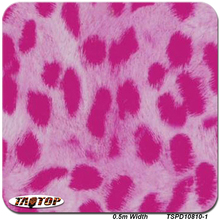 TSD10810-1 0.5m*20m Leopard Pink Fur Design Pattern Animal Water Transfer Printing Hydro Graphics Film