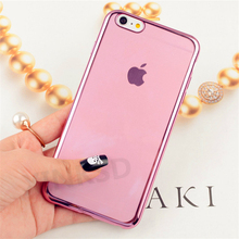 Buy Luxury Brand Ultra Slim Plating TPU Cases iPhone 6 Case 5 5s SE 7 8 Plus Case Silicone Shockproof iPhone X Case Original for $1.01 in AliExpress store
