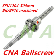 Free Shipping 1 pc 12mm 1204 Ball screw SFU1204 length 500mm plus 1pc RM1204 Ball nut CNC parts BK/BF10 end machined