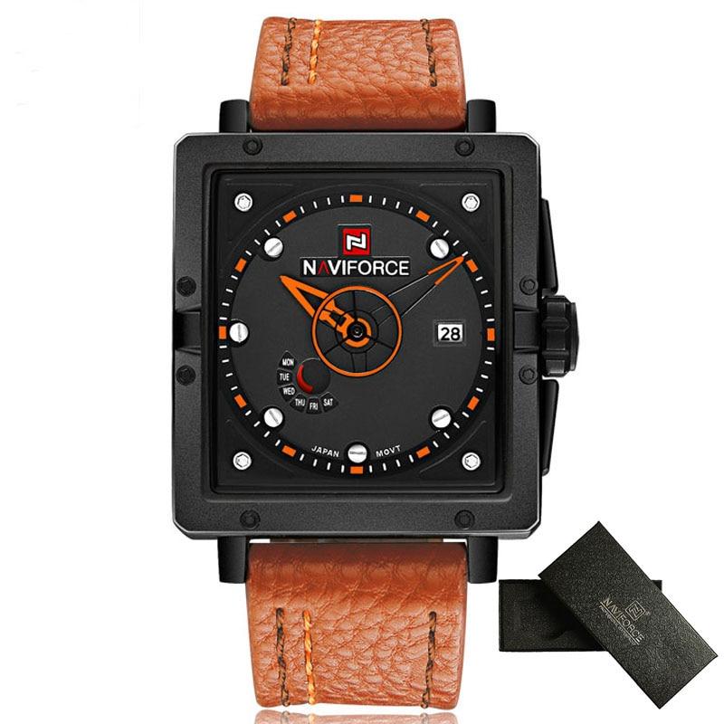 Mens Watches NAVIFORCE Top Luxury Brand Fashion Casual Quartz Watch Leather Strap Waterproof Wristwatch Relogio Masculino 2016<br><br>Aliexpress