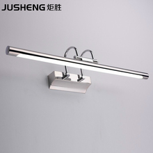 HOT Sales LED Stainless Steel Indoor Wall Lighting 7W LED Lamps Bathroom Sconces Mirror light 55cm long cool white 220V