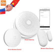 Original Xiaomi Smart Home Kit Gateway Door Window Sensor Wireless Switch Automation Mijia 3 1 Devices - online Ecological chain Store store