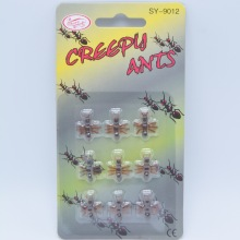 9PCS Christmas Gift Ant Prank Funny Trick Joke Special Lifelike Model Fake Ant Toy Event Party Practical Jokes Gag Tricky Toys