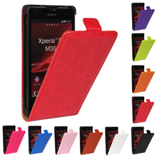 Buy Vertical Flip Case Sony Xperia SP M35h Cover PU Leather Phone Bag Coque Etui Funda Sony Xperia SP Hoesje Capinha for $3.41 in AliExpress store