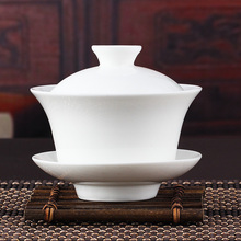 Chinese Ceremony Gaiwan Tea Tureen,Ceramic White Porcelain Tea Strainers,Jade Porcelain Ceramic Teapot,Kung Fu Tea Pot