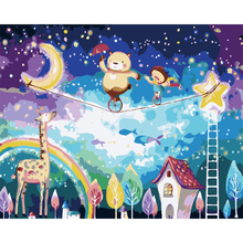 Diy painting by numbers cartoon world hand painted canvas oil paintings coloring by numbers canvas art decoration(China)