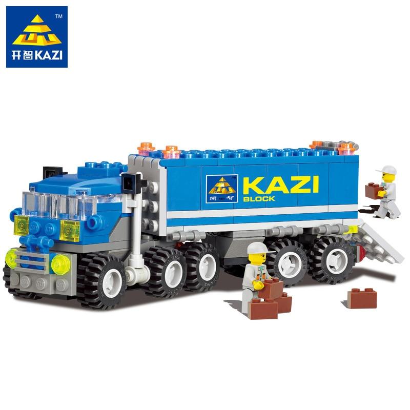Kazi City Dumper Truck Car Building Block Sets 163pcs Bricks Educational Construction DIY Birthday Toys For Children