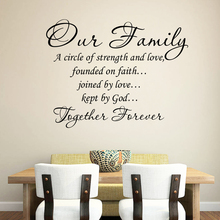 our family together forever quotes wall stickers for living room home decoration removable decals diy vinyl art