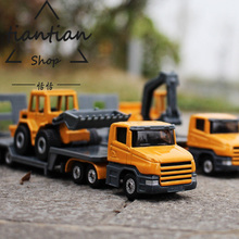 1:64 Alloy car model Engineering vehicles trailer Digging machine Shovel truck Children's car toys Give the child the best gift