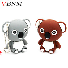 VBNM animal koala pendrive 8GB 16GB 32GB usb flash drive pen drive Cute U disk USB creative memory stick gift with keychain(China)