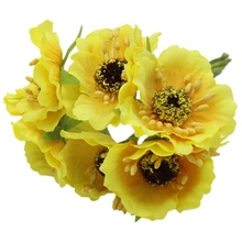 UESH-High Quality Silk Poppies Camellia 5cm 60pcs/lot Artificial Flowers Corn Poppy Hand Made Small Wedding Decoration