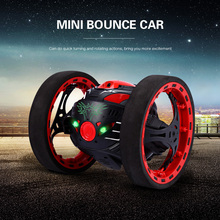 Original Mini Bounce Car Jumping RC Car Flexible Wheels Remote Control Robot Car LED Night Lights Shockproof Function RC Cars