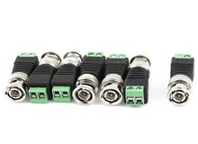 CAT5 To Camera CCTV BNC Connector Cat5 to BNC Male Coax Connector CCTV Camera for video balun connection