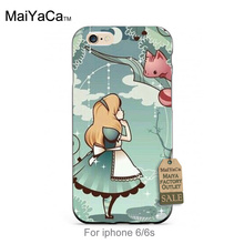 Black Silicone caseALICE IN WONDERLAND RUBBER Top Detailed Popular Phone case For iPhone 4 5 5c 6 6plus 7 7plus