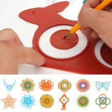 Novelty Spirograph Magic Turtle Rabbit Drawing Board Kids Educational Toy(China)