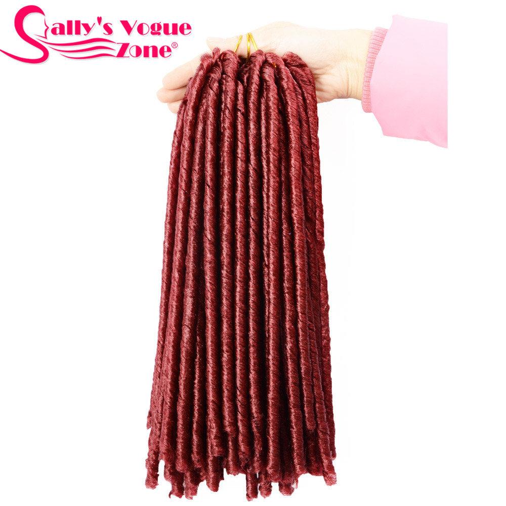 24 Roots Faux LocsCrochet Hair 18 Crochet Faux Lock Dreadlock Crochet Braids hair Extensions Synthetic Braiding hair Soft lock (167)