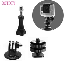 1/4'' Hot Shoe Adaptor +Tripod Mount +Screw For GoPro Hero 2 3 3+ 4 DSLR Camera(China)
