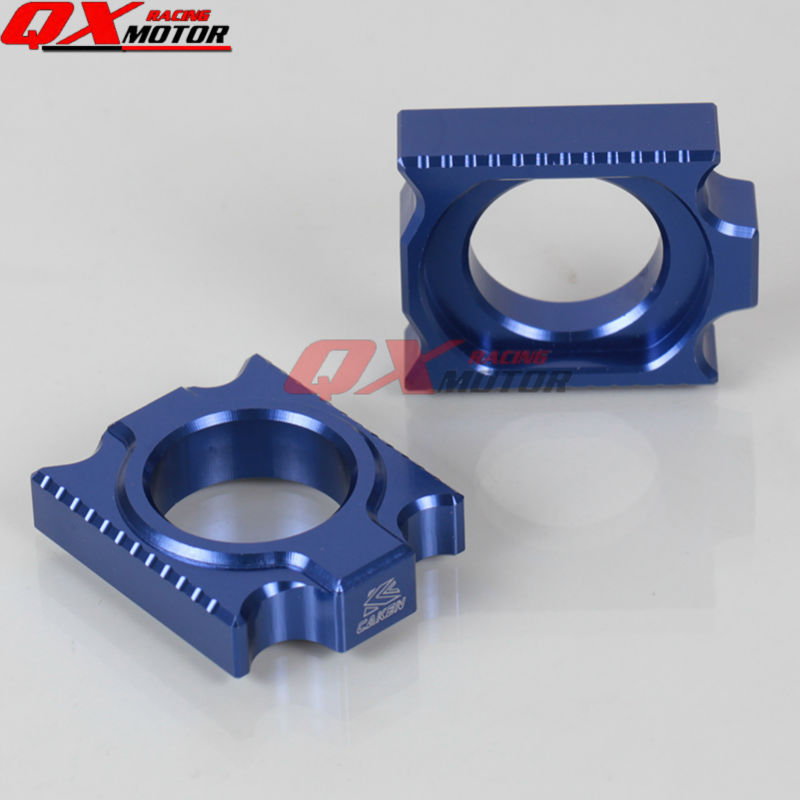CNC Billet Axle Block Chain Adjuster YZ250F 12-16 YZ450F 10-16 Dirt Bike MX Motocross Road Motorcycle  -  QXmotor Parts Store store