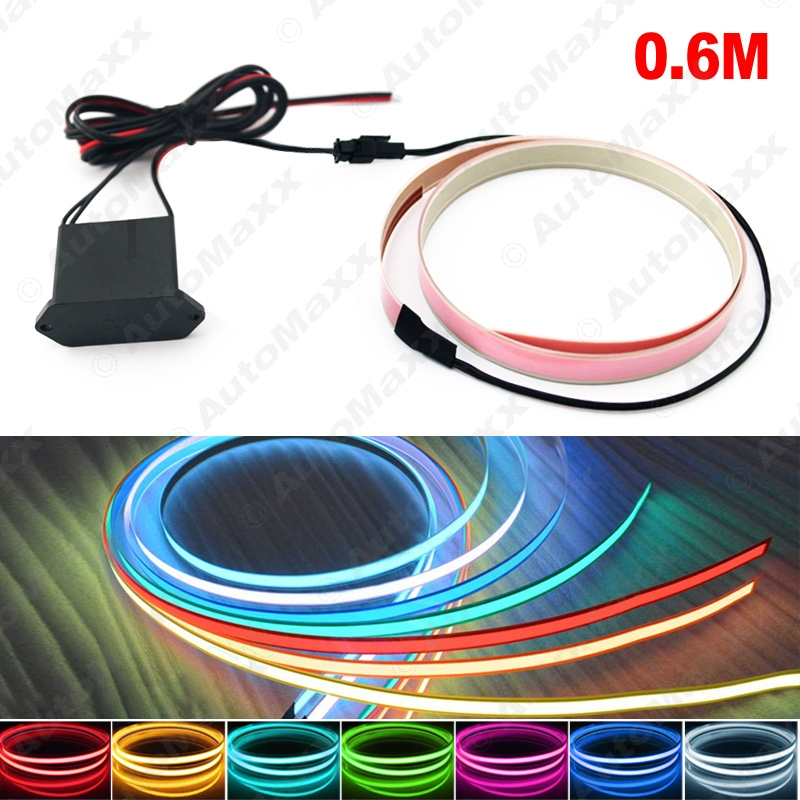 10Sets 10 Colors 100CM*14MM 1m Electroluminescent Tape EL Wire Cold Light Strip Car Ambient Light DC 12V #J-4468<br><br>Aliexpress