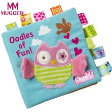 Child Puzzle Animal Book owl Animal Monkey Puzzle Soft Cloth Books Toy for Babies Educational Development Toys for Children(China)