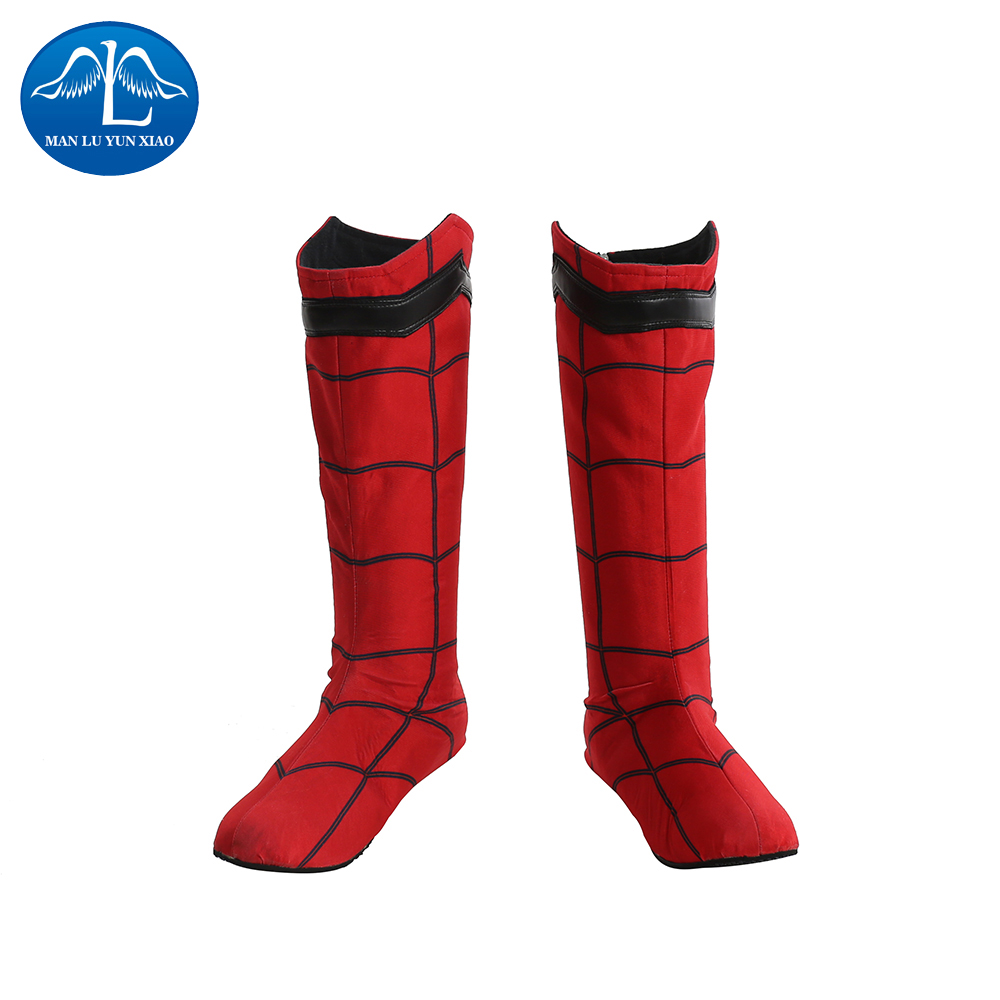 MANLUYUNXIAO New Arrival Men's Boots Spiderman Boots Halloween Carnival Cosplay Boots For Men